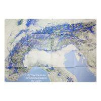 SkyWay-Karte der Streckenfluggebiete: Poster von Alpen / Spanien / Portugal / Pyrenäen (100 x 68 cm)