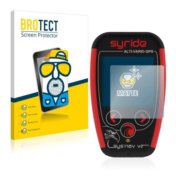 2x Matte Screen Protector for Syride SYS Alti | GPS | Nav